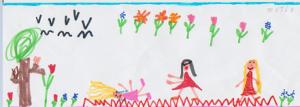 Tekening van MARIT, 6 jaar.